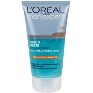 mens exfoliating wash